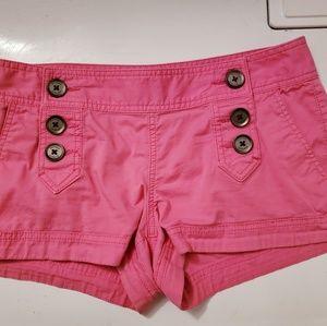 Hot pink short shorts